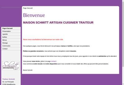 Site internet de Traiteur Schmitt