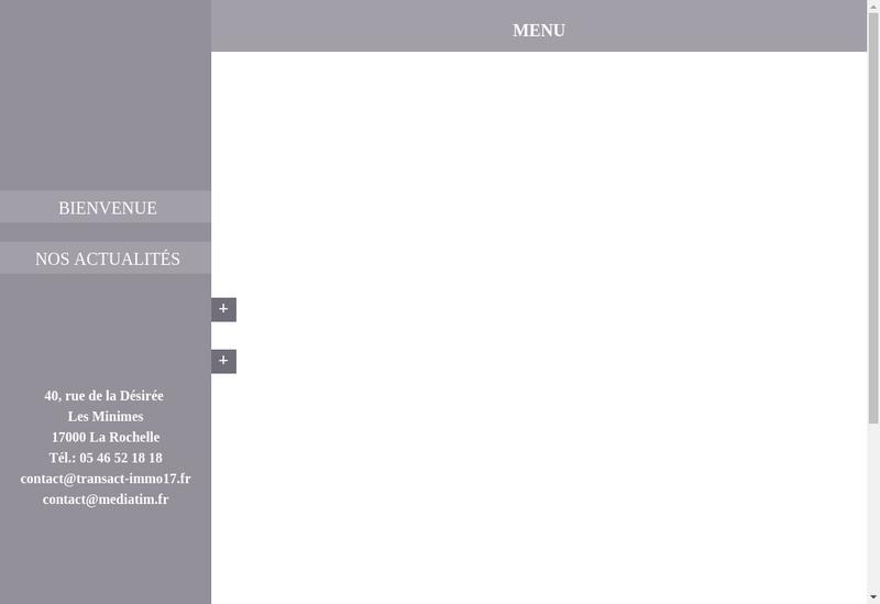 Capture d'écran du site de Transact'Immo