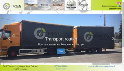 Capture d'écran du site de Transeo Logistique SAS