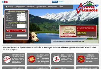 Capture d'écran du site de Service Transport Bouffier