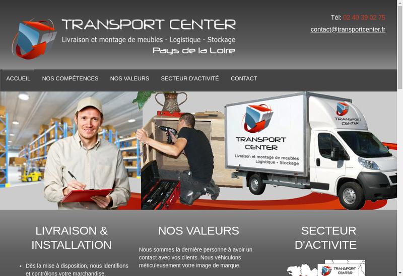 Capture d'écran du site de Transport Center