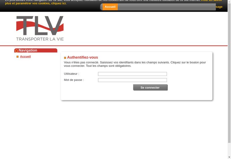 Capture d'écran du site de Transporter la Vie