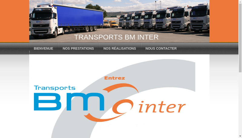 Capture d'écran du site de BM Inter