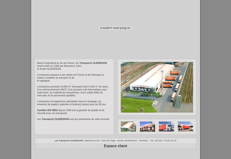 Capture d'écran du site de Transports Glenisson Freres