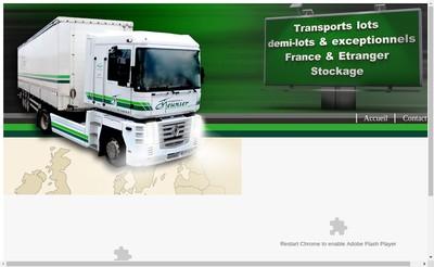 Site internet de Transports Meunier