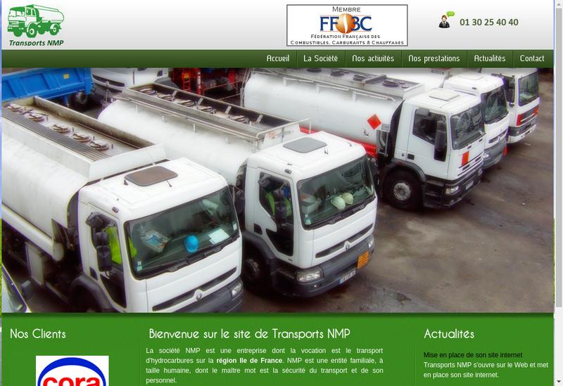 Capture d'écran du site de Transport Nmp