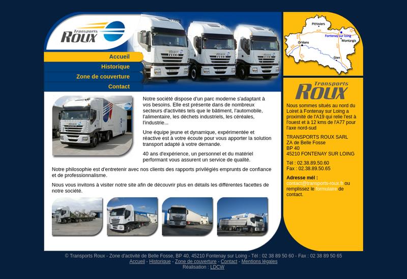 Capture d'écran du site de Transport Elite