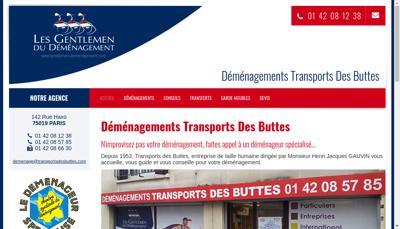 Capture d'écran du site de SAS Transports des Buttes