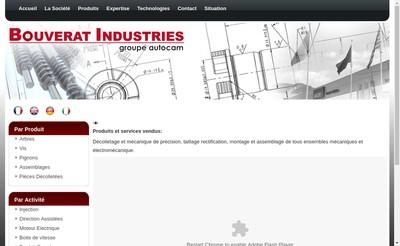 Site internet de Bouverat Industries