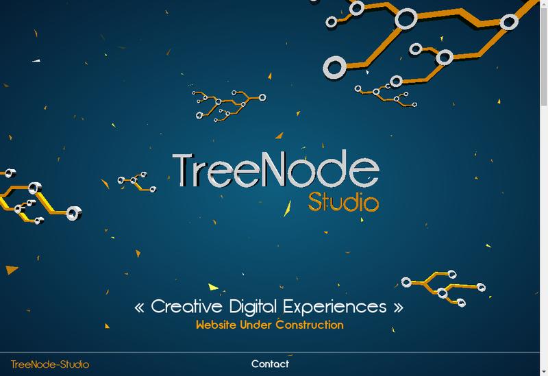 Capture d'écran du site de Treenode Studio