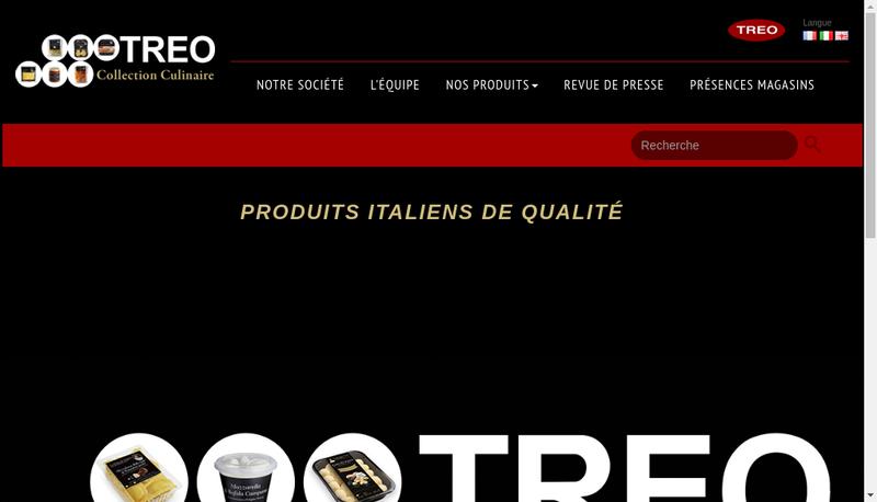 Capture d'écran du site de TREO