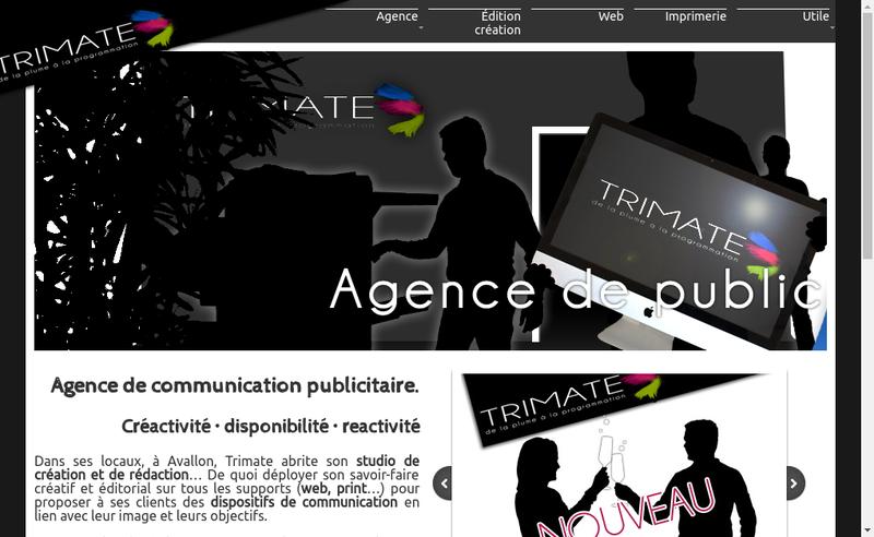 Capture d'écran du site de Trimate