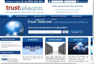 Site internet de SARL Trust Telecom