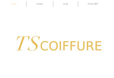 Capture d'écran du site de Coiffure 14