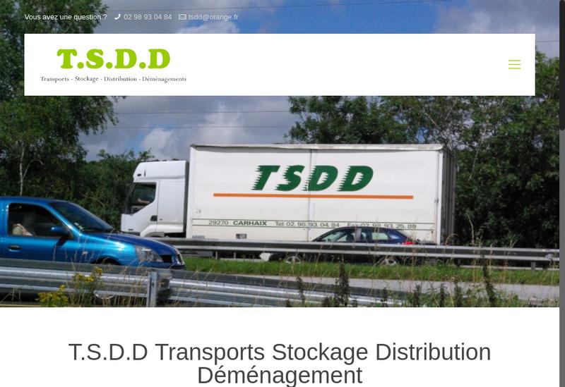 Capture d'écran du site de Trans Stock Distribution et Demenageme