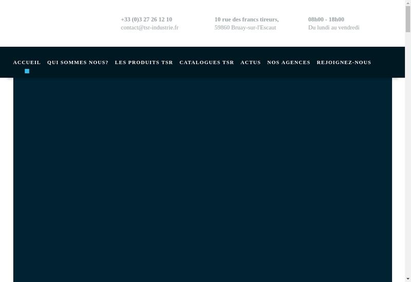 Capture d'écran du site de TSR Formation
