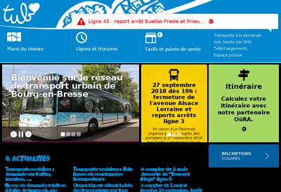 Capture d'écran du site de Reseau Tub