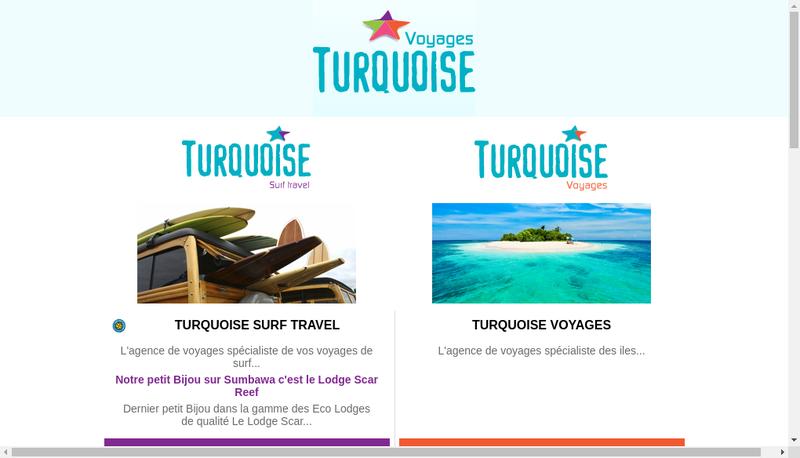 Capture d'écran du site de Turquoise Voyages