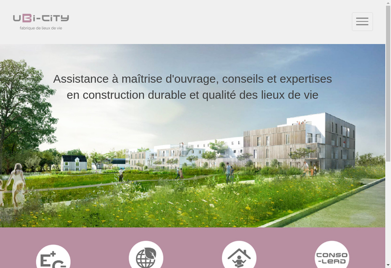 Capture d'écran du site de Ubi City