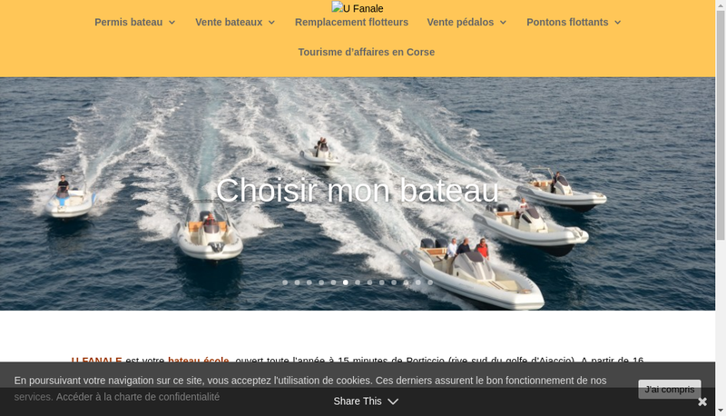 Capture d'écran du site de U Fanale