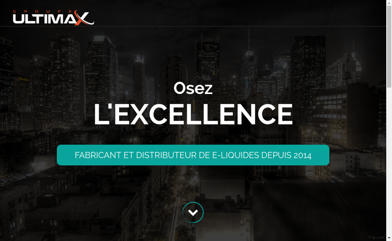 Capture d'écran du site de Ultimax