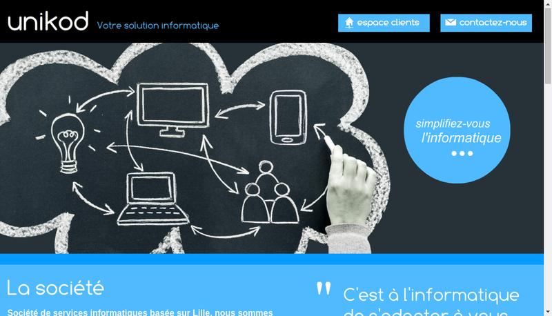 Capture d'écran du site de Unikod