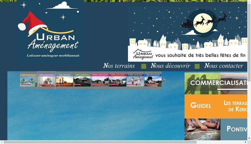 Capture d'écran du site de Urban Amenagement