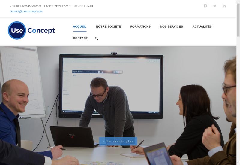 Capture d'écran du site de Use Concept