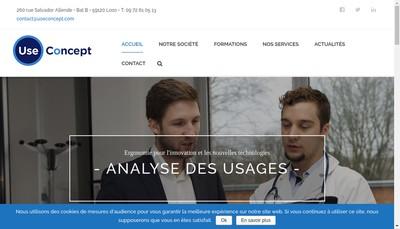 Site internet de Use Concept
