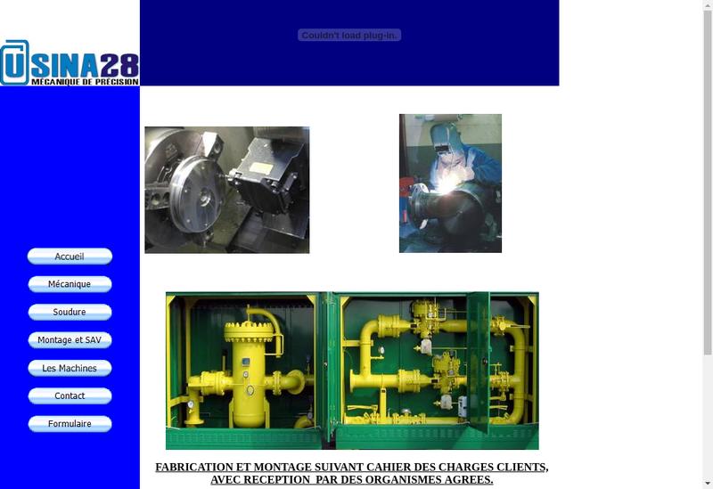 Capture d'écran du site de Usina 28