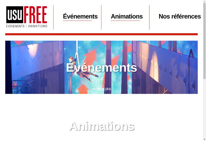 Capture d'écran du site de Usufree
