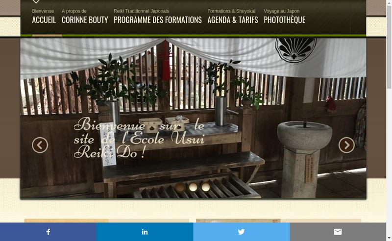 Capture d'écran du site de Kaizen No Michi