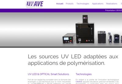 Capture d'écran du site de Uwave