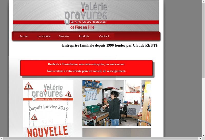 Capture d'écran du site de Serrures Service Gravure