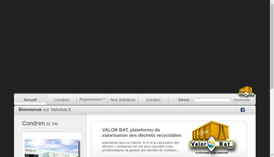 Capture d'écran du site de Valor Bat