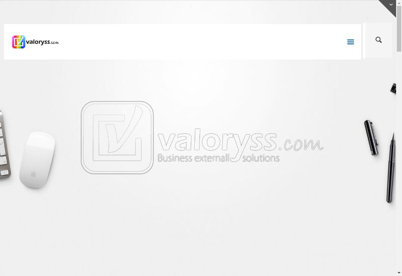 Capture d'écran du site de Valoryss