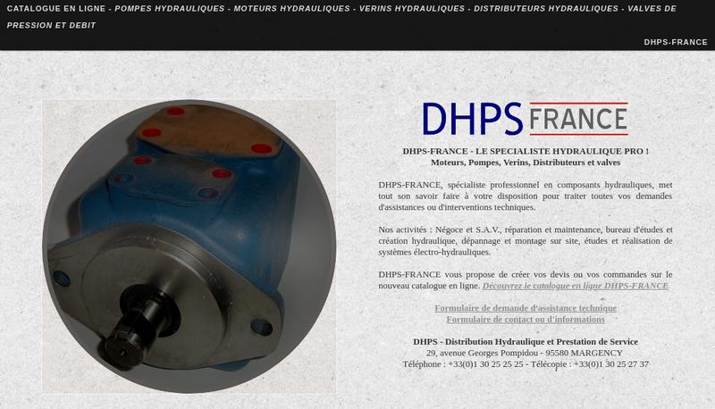 Capture d'écran du site de Dhps Distrib Hydraul Prest Service