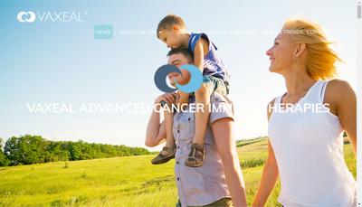 Capture d'écran du site de Vaxeal Research