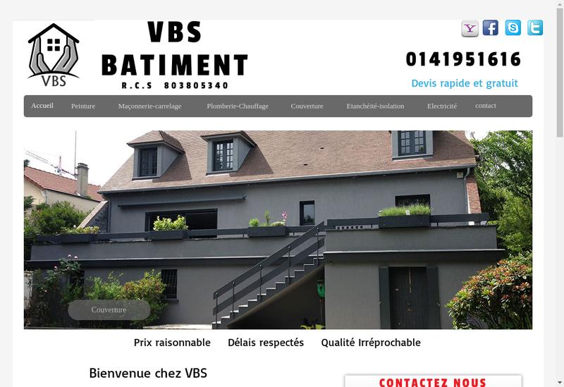 Capture d'écran du site de Vav Batiment Services