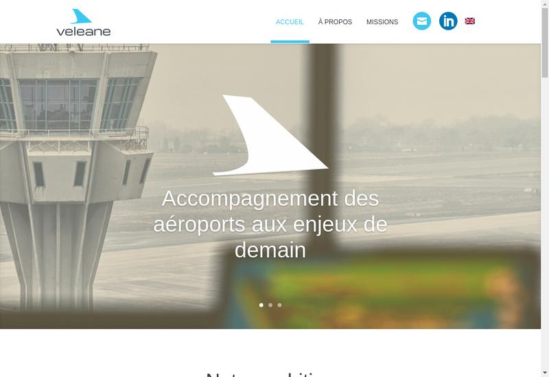 Capture d'écran du site de Veleane
