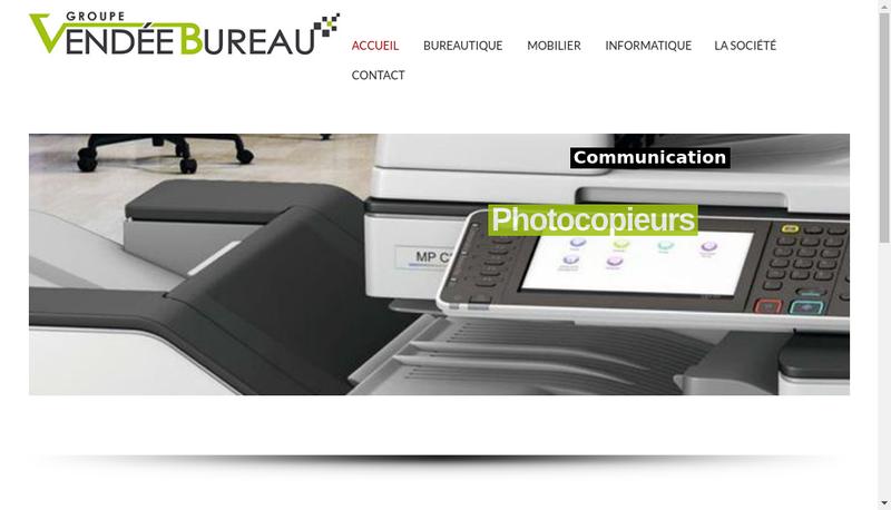 Capture d'écran du site de Vendee Bureau