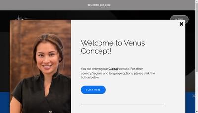 Site internet de Venus Concept France SAS