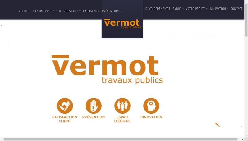 Capture d'écran du site de Vermot