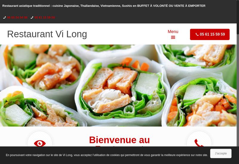 Capture d'écran du site de Vi Long