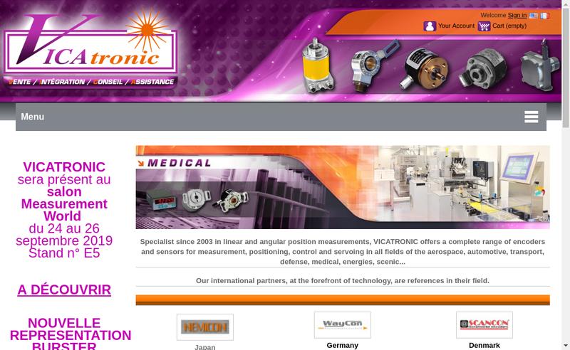 Capture d'écran du site de Vicatronic