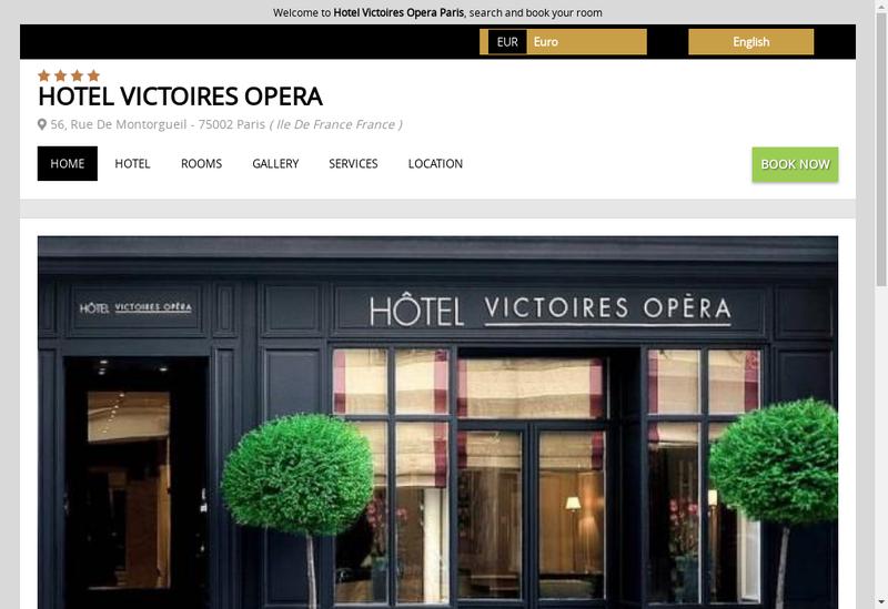 Capture d'écran du site de Victoires Opera