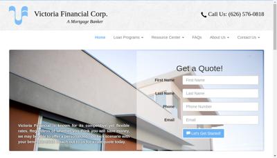 Capture d'écran du site de Victoria Finances