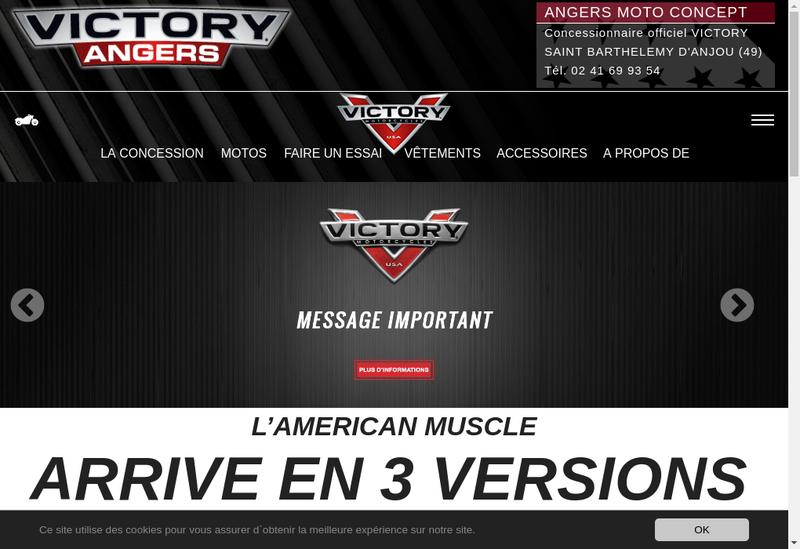 Capture d'écran du site de Alliance Moto Cycle