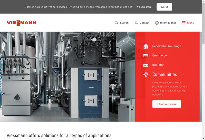 Capture d'écran du site de Viessmann Faulquemont