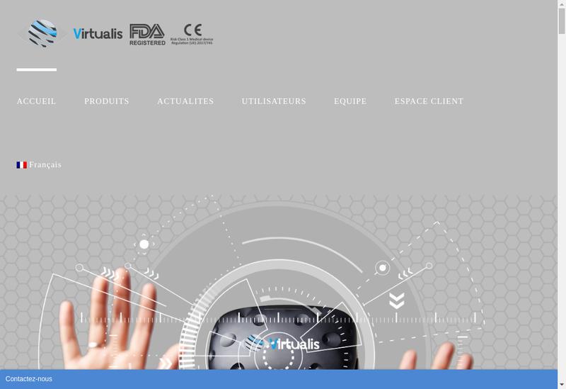 Capture d'écran du site de Virtualis